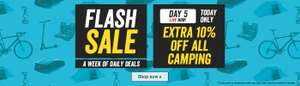 HALFORDS FLASH SALE TODAY ONLY extra 10% off in camping including already reduced items @ halfords