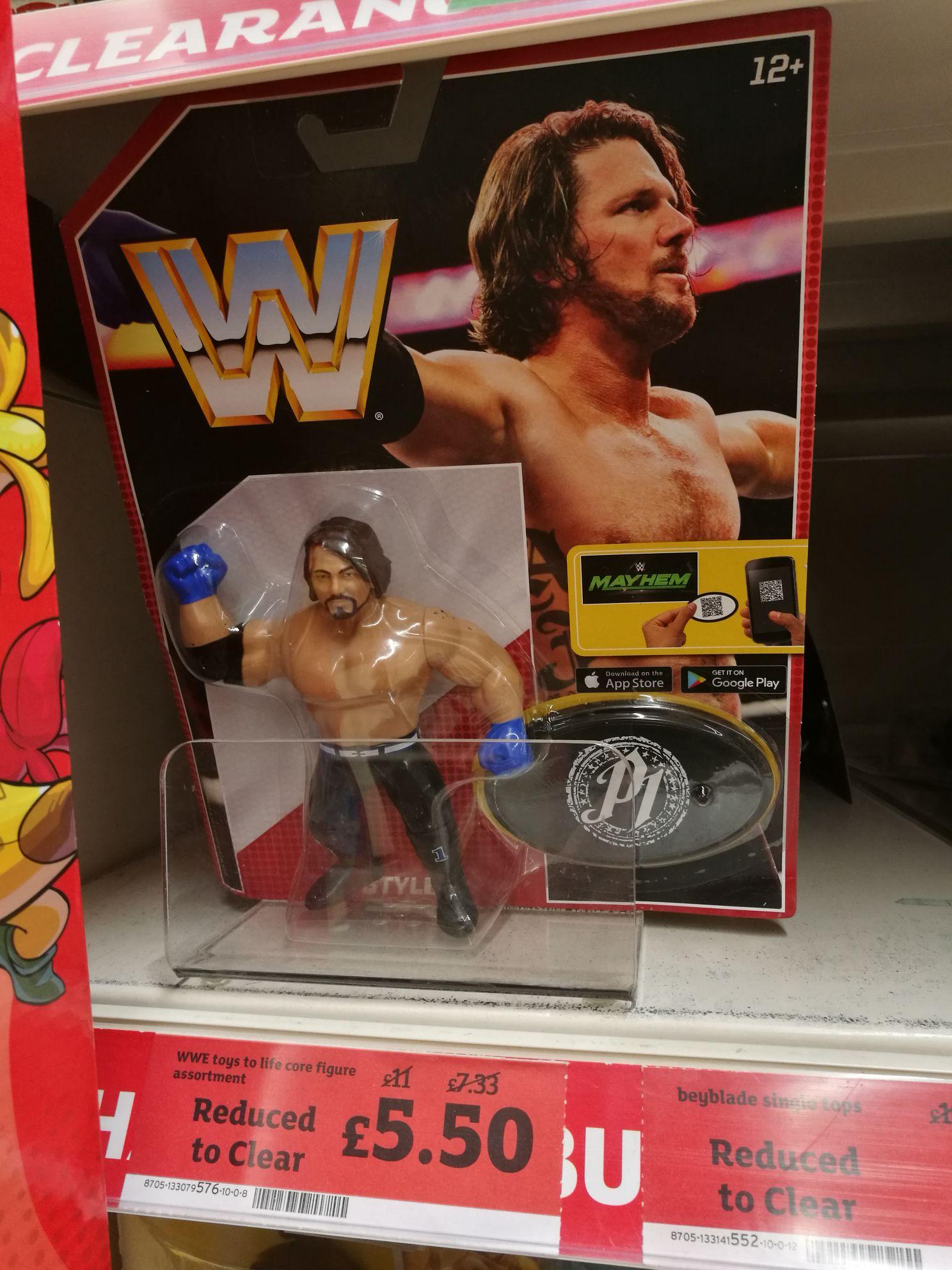 WWE Mayhem figures £5.50 (old Hasbro style) Sainsbury's York