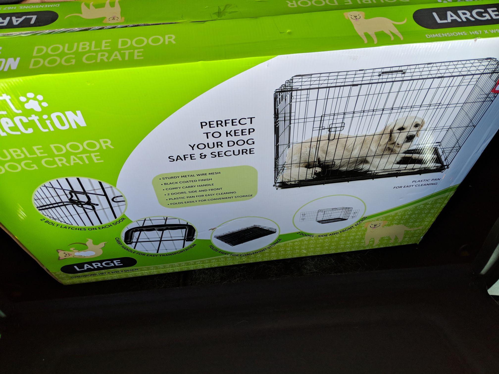 Aldi Large Dog Crate £4.99 - Telford
