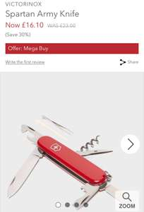 Swiss Army Knife £16.10 (£1 C&C / £2.99 del) @ Millets