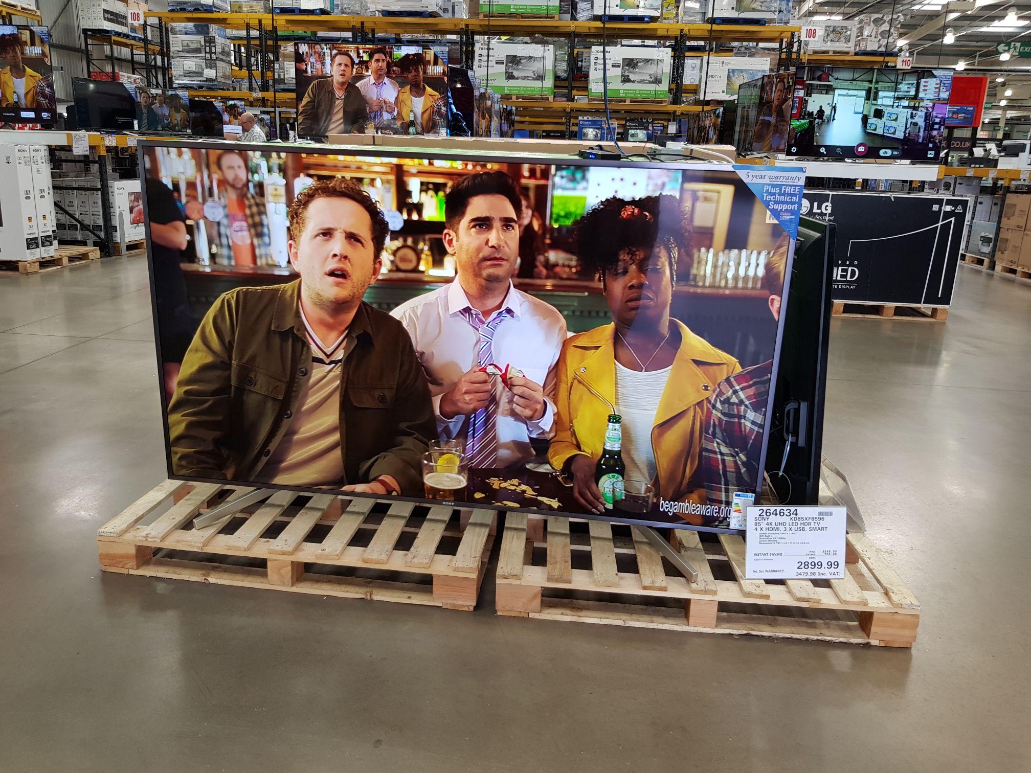 Sony KD85XF8596 85 inch 4k TV £3479.98 @ Costco