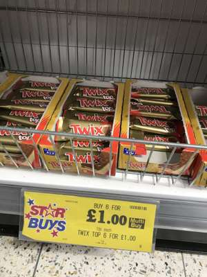Twix Top, 6 for £1 or 19p each at Home Bargains