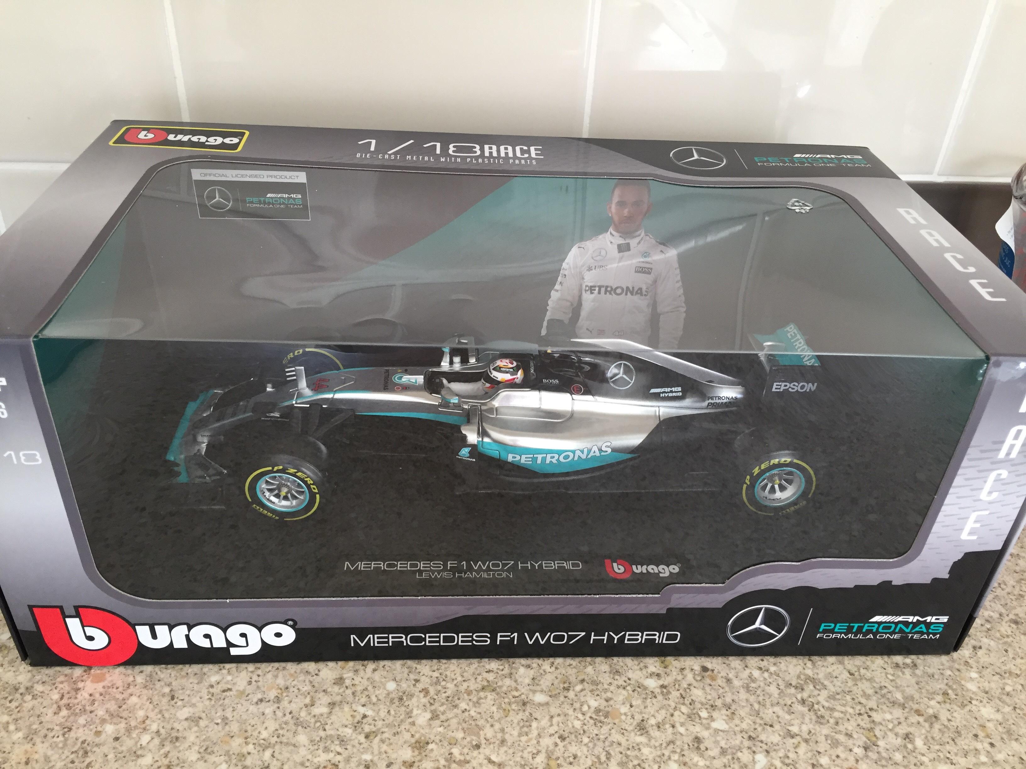 Lewis Hamilton 1:18 2016 F1 W07 Mercedes Burago £19.99 instore @ Hawkins Bazaar