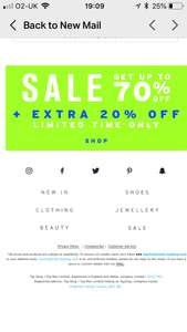 Topshop sale- Extra 20% off + free click and collect