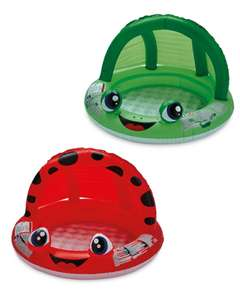 ALDI SPECIAL BUY Bestway Frog Shaded Baby Pool Red / Green in store from Thurs 19th - £4.99 @ Aldi
