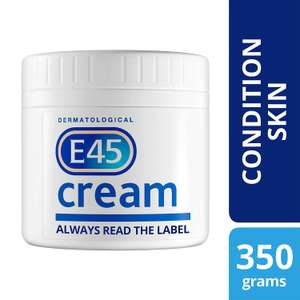 E45 Dermatological Cream Treatment for Dry Skin Conditions (350g) - £4.66 Prime / £9.15 non Prime @ Amazon