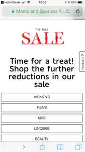 M&S NOW 90% OFF in Sale IN STORE