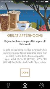 Double stamps all week @ Caffè Nero