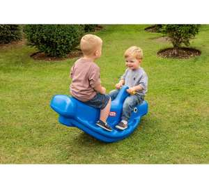 Outdoor Toy Sale -Little Tikes Whale Teeter Totter Seesaw now £24.99  +  discounts on slides, playhouses, sports equipment, and more at Asda George