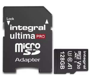 Integral Ultima Pro 128GB A1 U3 Micro SDXC Card 100MB/s Read 90MB/s Write £24.29 Mymemory with code
