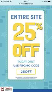 25% off Build-A-Bear TODAY only