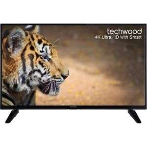 Techwood 43AO6USB 43 Inch Smart LED TV 4K Ultra HD  £216 with code on AO Ebay
