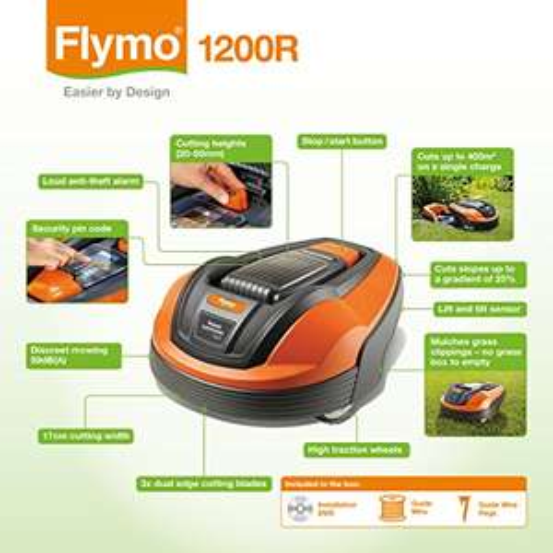 Flymo 1200R Lithium-Ion Robotic Lawn Mower, 18 V £424.99 @ Amazon