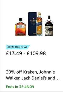 30% off range of alcohol at prime day deals