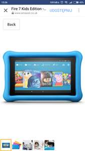 "Fire 7 Kids Edition Tablet, 7"" Display, 16 GB, Blue Kid-Proof Case £59.99 instead of 99.99 Amazon Prime"