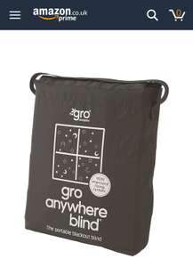 Amazon Prime Day Deal The Gro Company Gro Anywhere Portable Blackout Blind with Suction Cups £16.10 Amazon Prime