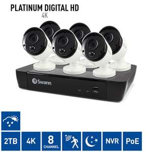 Swann 4K NVR8-8580 8 Channel NVR with 6 x 4K NHD-885MSB Bullet Cameras £699.99 costco