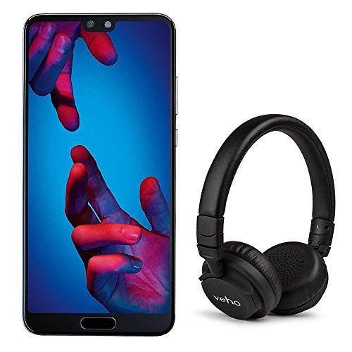 Used very good Huawei P20 SIM-Free with Veho Headphones - Black @ amazon