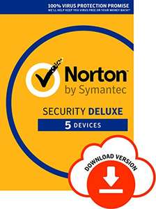 Norton Security Deluxe 2018 | 5 Devices | 1 year | Antivirus included | PC|Mac|iOS|Android | Download £13.99 prime members - Amazon