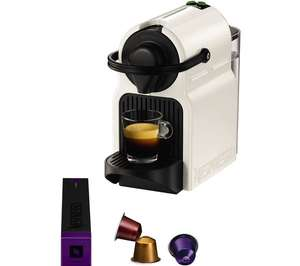 Nespresso Krups Inissia XN100140 coffee pod machine with 3 year guarantee in white now £35.20 delivered with code @ eBay sold by AO