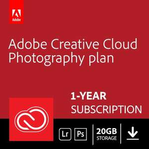 Adobe Creative Cloud Photography plan with 20GB: Photoshop CC + Lightroom CC | 1 Year Licence | Online Code & Download - £79.99 @ Amazon Prime Day
