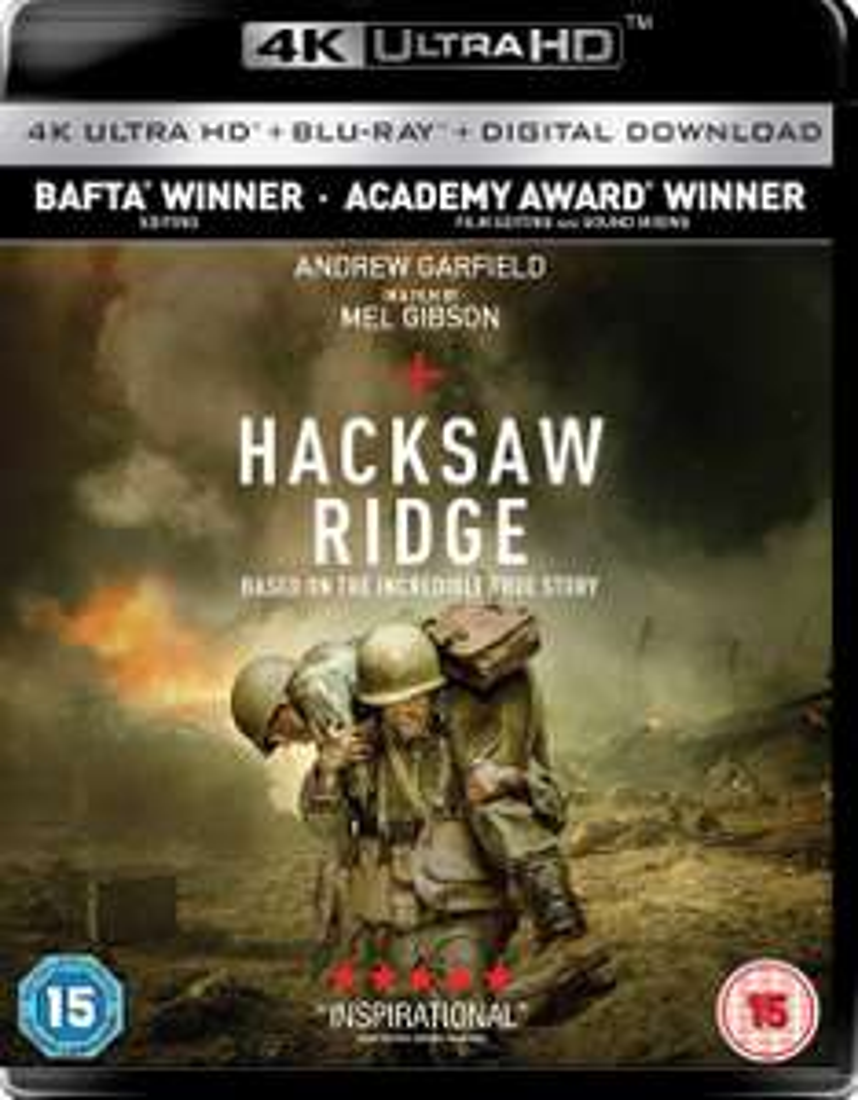 Hacksaw Ridge 4K Dolby Vision £5.99 @ iTunes