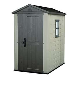 Keter Factor Outdoor Plastic Garden Storage Shed, Beige, 4 x 6 ft £210 - Amazon Prime Deal