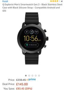 Fossil Q Explorist Men's Smartwatch Gen.3 £145 amazon prime day