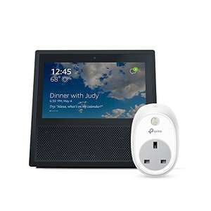 Amazon Echo Show + TP Link Wifi Smart Plug HS100 - £109.99 @ Amazon Prime Day