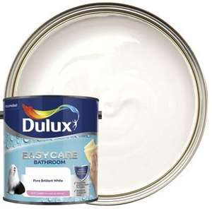 Dulux Easycare Bathroom Soft Sheen Emulsion Paint - Pure Brilliant White 2.5L £19 @ Wickes