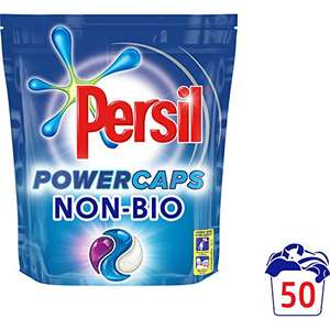 Persil Powercaps Non Bio Washing Capsules, 50 Wash, Pack of 3 - £15.00 (Prime) £19.49 (Non Prime)@ Amazon