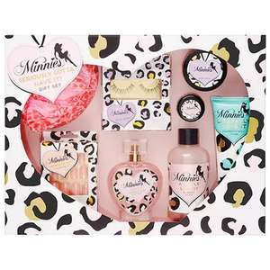 Minnies Seriously Gotta Have It! 9 piece Gift Set - Includes Body Mist (100ml) Shimmering Body Lotion (100ml) Body Scrub (100ml) False Nails & more £12.74 delivered at The Perfume Shop