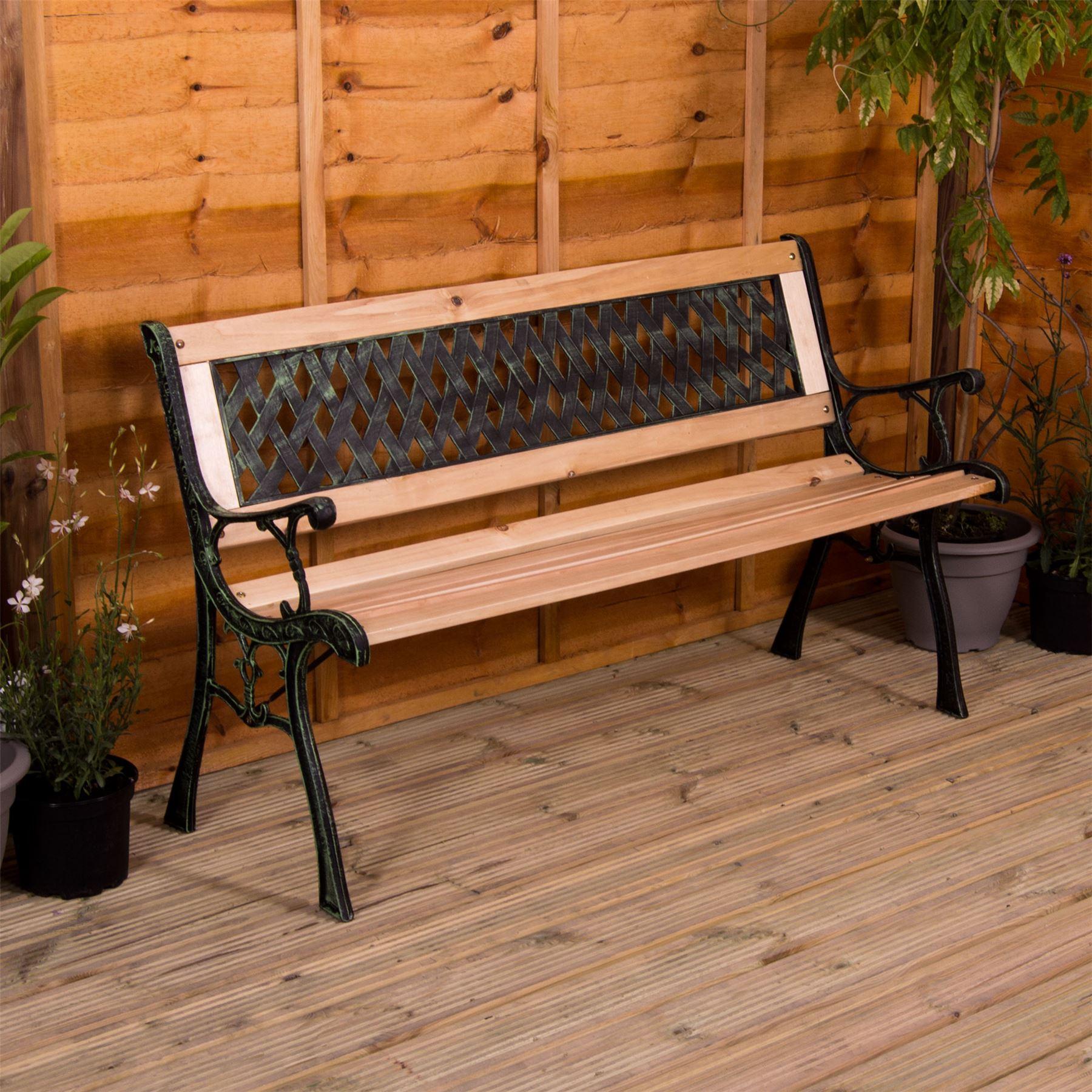 3 Seater Wooden Garden Bench (2 Designs) £27.60 delivered @ eBay homediscountltd