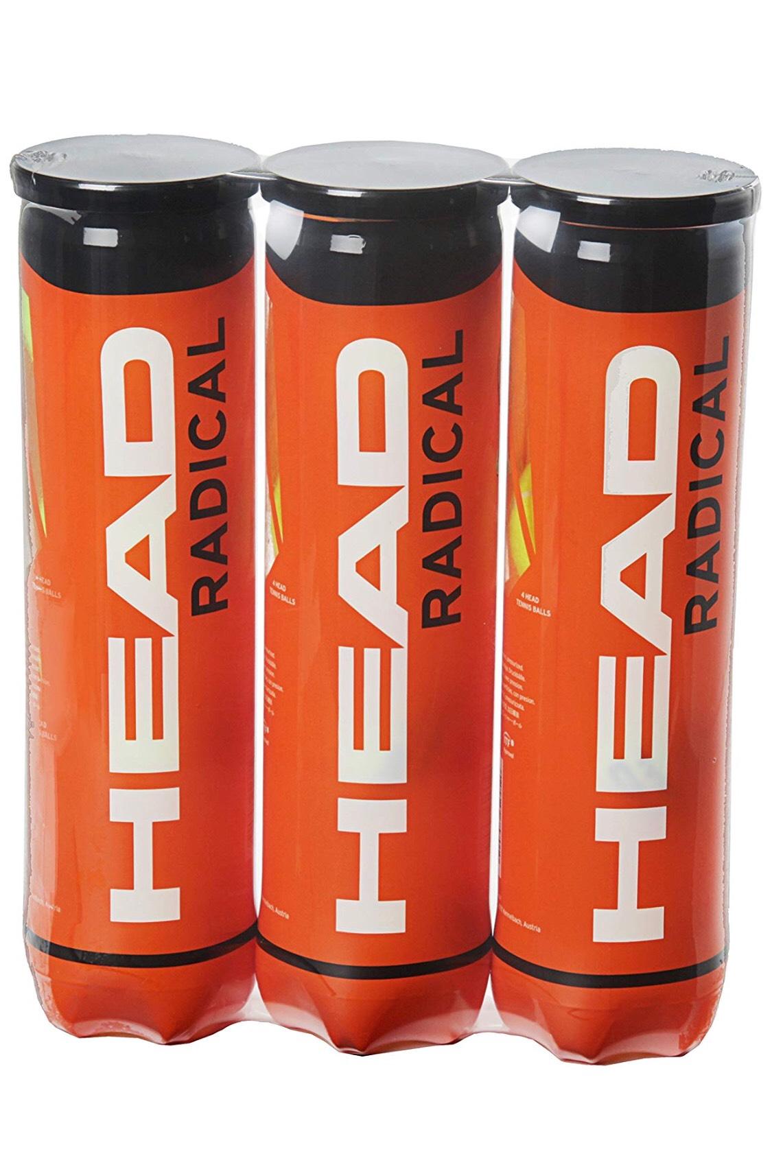 Triple pack (12 balls) Head Radical Tennis Balls - £8.99 @ Amazon Prime Day lightning deal