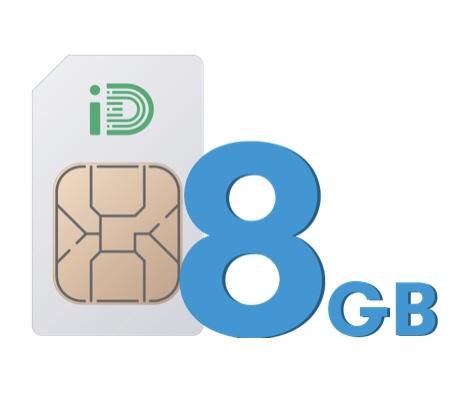ID Mobile 30 day sim, 500m unlimited txt & 8GB £10