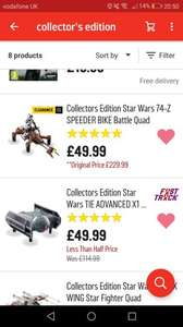 Star wars collectors edition drones £49.99 @ argos