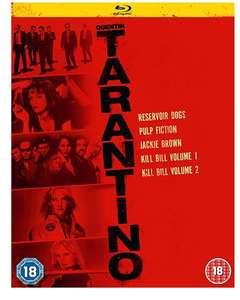Quentin Tarantino blu ray collection 5 movies £7.99 Amazon Prime lightning deal