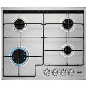 Zanussi ZGH65411XB Gas Hob, Silver for £23 delivered @ John Lewis
