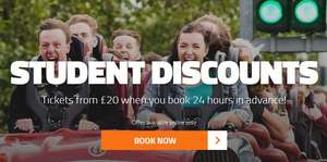 Student Tickets For £20 @ Thorpe Park (online only)