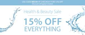 15% off All Health and beauty with code @ Expert Verdict