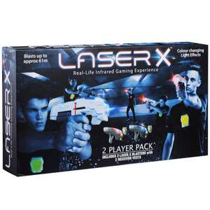 Laser X Laser Gaming Tag Set 2 Player Pack brilliant reviews now £32.98 delivered @ IWOOT