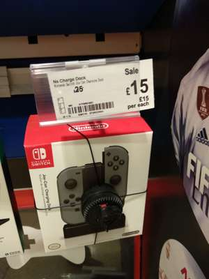 Officially licensed Nintendo Switch Joy-Con charging dock - Asda (in-store) - £15