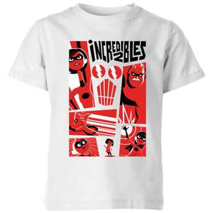 The Incredibles 2 Poster Kids' T-Shirt 100% Cotton in White (3-12yrs) was £17.98 Del now £7.98 Del @ IWOOT