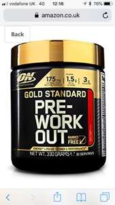 Optimum Nutrition Gold Standard Pre-Workout Supplement, 330g £11.99 Amazon Prime day