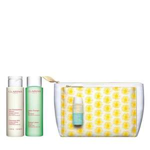 6 mystery samples + 3 chosen samples and upto 50% off Summer sale items from £8.40 + £3.95 delivery more in op @ Clarins