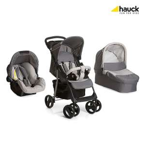 Hauck Shopper SLX Trio Set Lightweight Travel System, from Birth, Grey (Car Seat, Carrycot and Raincover) - Prime Lightning Deal - £127.99 @ Amazon