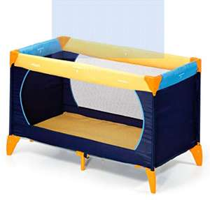 Hauck Dream-n-Play Travel Cot with Folding Mattress, 60 x 120 cm, Yellow/Blue £36.48 amazon warehouse like new