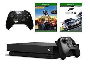 Prime Day Flash Deal - Xbox One X + Forza 7 + PUBG + Elite Controller £499.99 - Amazon