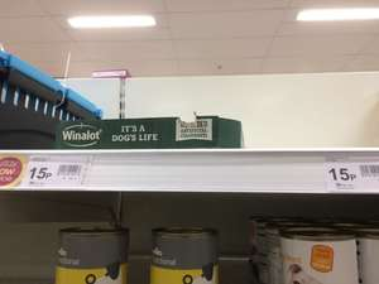 Bargain dog food at Wilko instore 400g tins for 15p