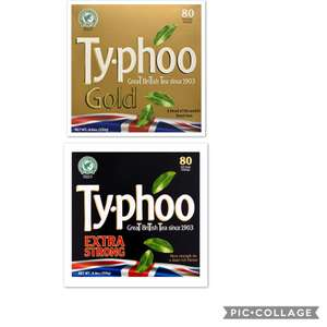 80pk typhoo extra strong & 80pk typhoo gold £1 each at poundland from tomorrow (weds 17/07)